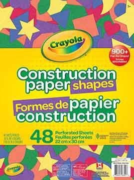Precut Construction Paper Shapes, 48 sheets