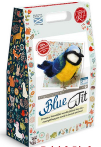 Needle Felting Kit - Blue Tit