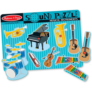 Musical Instruments: 8-Piece Wooden Sound Puzzle