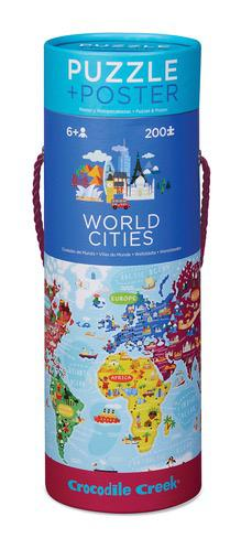 200pc Puzzle & Poster - World Cities