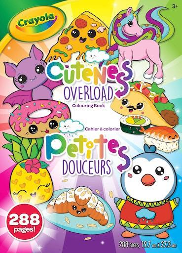 288 pg Colouring Book - Cuteness Overload