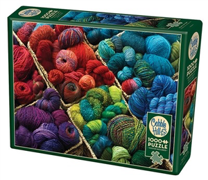 Plenty of Yarn 1000 piece jigsaw puzzle includes poster