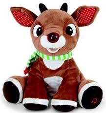 Rudolph Plush with Music and Lights
