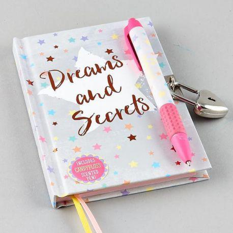 Lockable Diary with Scented Pen - Dreams and Secrets