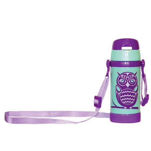Stainless Steel Insulated Water Bottle - Owls