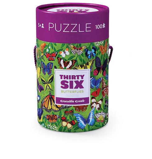 100pc Thirty-six Puzzle - 36 Butterflies