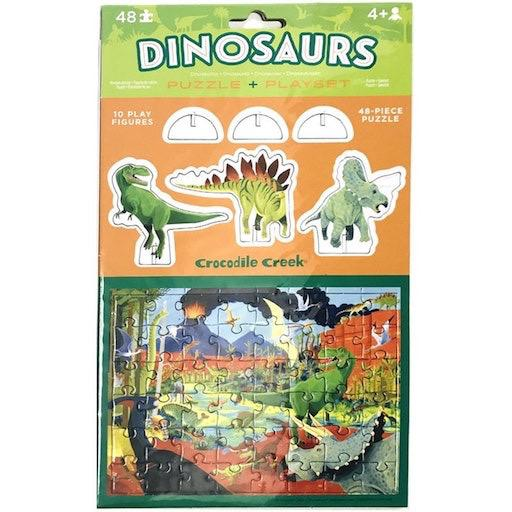 Pop-Out Puzzle & Playset - Dinosaurs