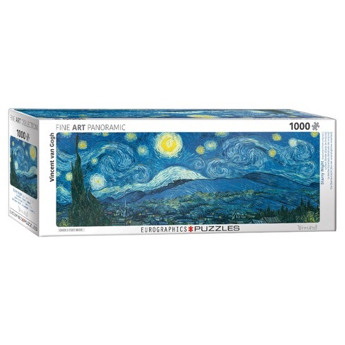 Starry Night by Vincent Van Gogh: 1000-Piece Panoramic Puzzle