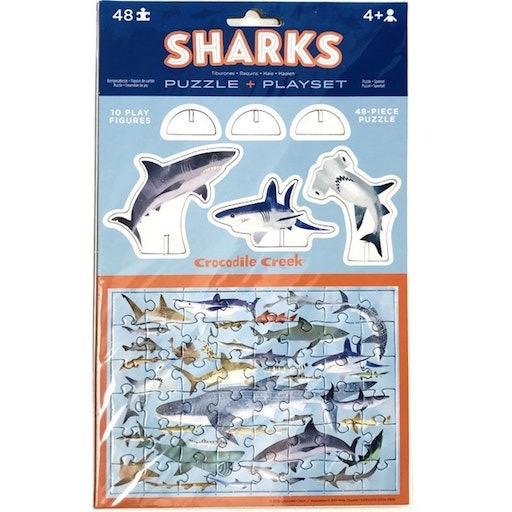 Pop-Out Puzzle & Playset - Sharks