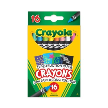 16 Construction Paper Crayons