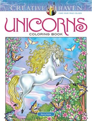 Creative Haven Unicorns Colouring Book