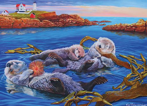 Family Puzzle - Sea Otter Family 350pc