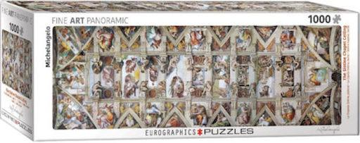 The Sistine Chapel Ceiling Panoramic Puzzle