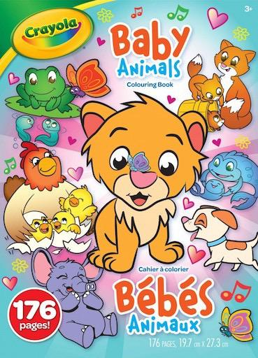 176 page Colouring Book - Baby Animals