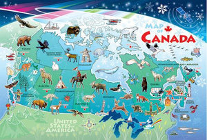 Map of Canada 36 pc Floor Puzzle
