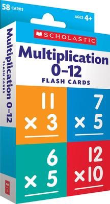Multiplication 0-12 Flash Cards