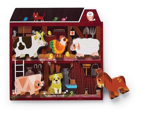 Let's Play: On the Farm 6 pc Wooden Puzzle