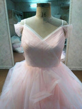 Pastel Pink Plus Size Ball Gown Wedding Dress by Darius