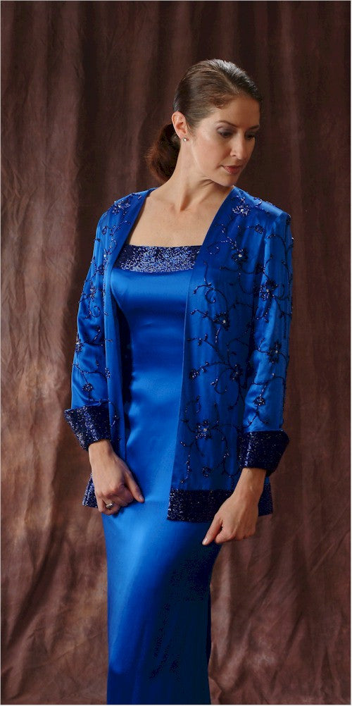 Style #C494 - Blue Two Piece Mother of the Bride Evening Dress