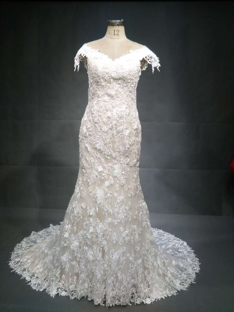 #Ci-Ahn - Cap Sleeve lace bridal gown from Darius Customs