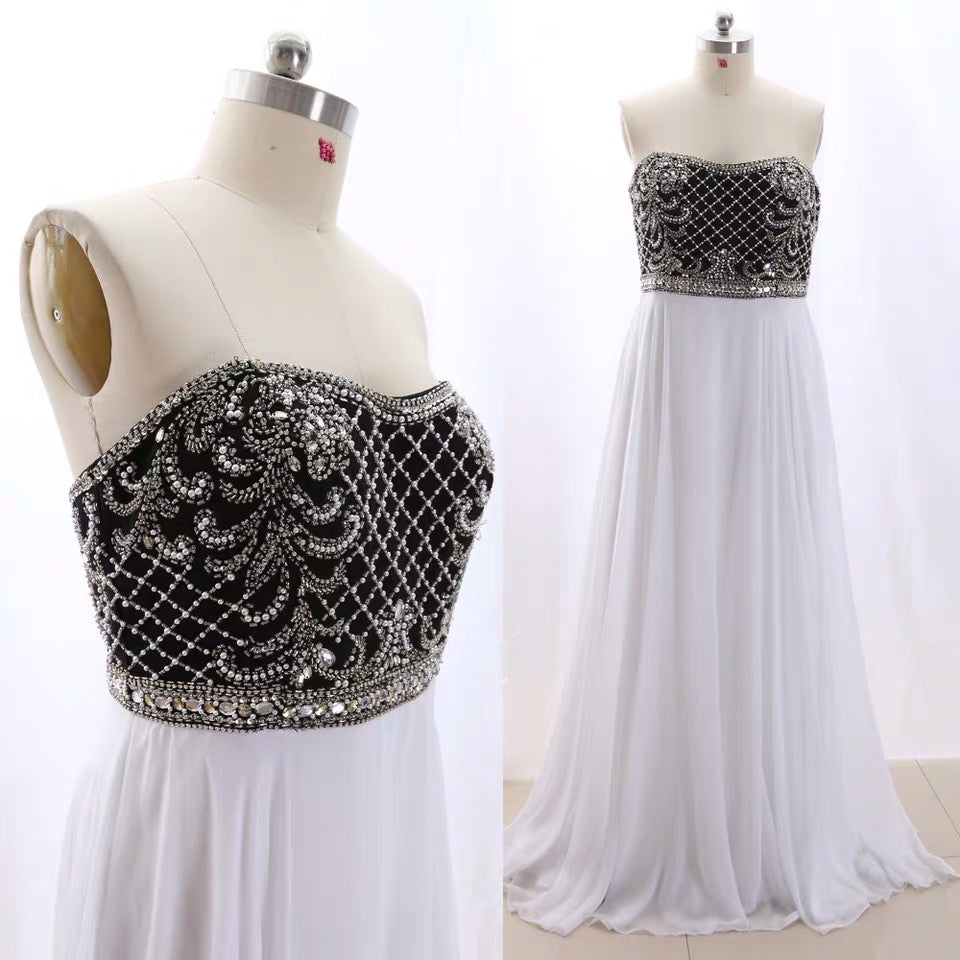 Style #IMG_8526 - Strapless Plus Size Empire waist Evening Gown