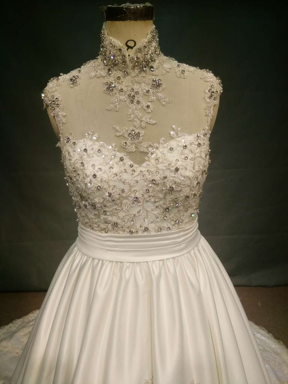 Sleeveless a-line wedding gown with Bling from Darius Customs