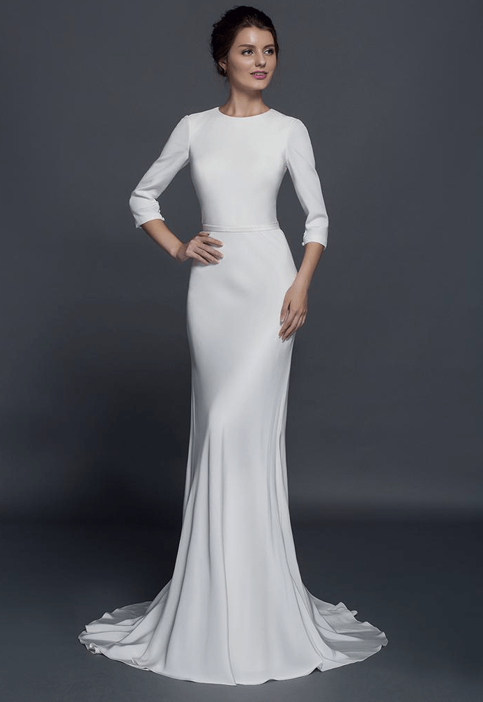 Style #50150032 - Modest Long Sleeve Wedding Dress