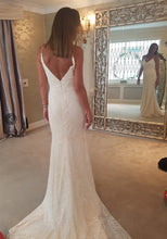 #010719 Spaghetti strap beaded wedding dresses from Darius Cordell