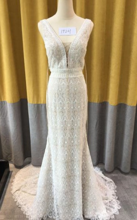 Style 19201 Crochet fabric wedding dress designs from Darius Cordell