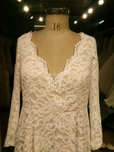 Long Sleeve plus size lace wedding dress from Darius USA