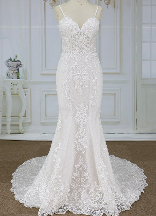 Style YBW121718a Couture embroidered wedding dresses from darius cordell