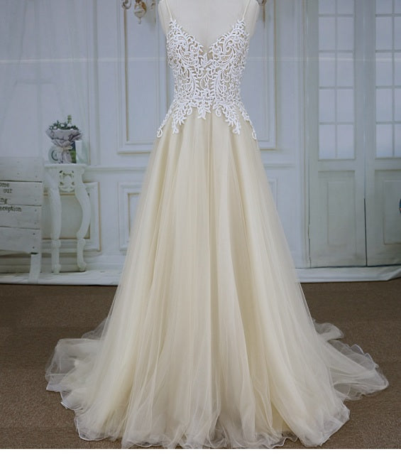 Style YBW1219B Champagne colored wedding dresses from Darius Cordell