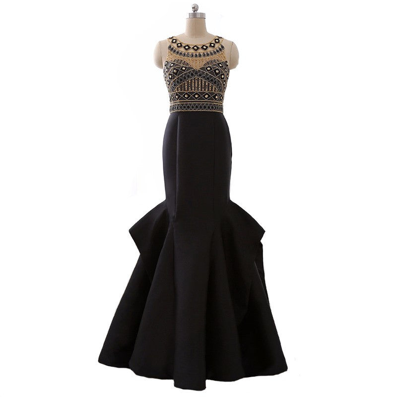Beaded Black Tie Formal Dress for a Gala from Darius Evening Dresses