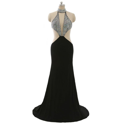 Sexy Black Halter Evening Gowns from Darius Designs