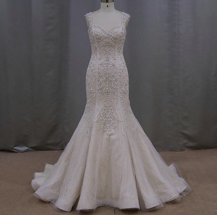 Beaded Mermaid Style Wedding Dresses from Darius Customs