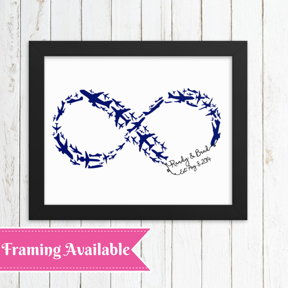 Infinity Symbol, Personalized Anniversary Gift, Aviation Gifts, Gifts – Luv of Mine Designs