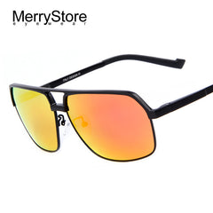 MERRYSTORE Men Brand Ultralight Gold Frame Polar Sunglasses Fashion Driving Polarized Glasses Aluminum Alloy Sunglasses