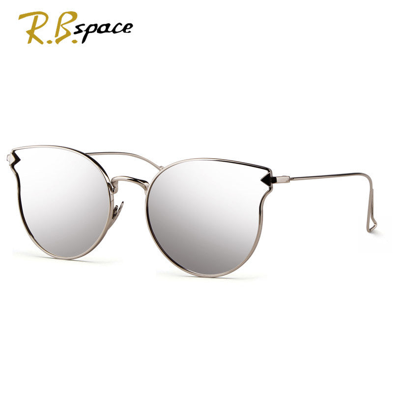 Fashion Sunglasses Women Cat Eye Sunglasses Famous Lady Brand Designer Twin-Beams Sunglasses Coating Mirror Glasses UV400 S1884 - Sunglasses Outlet