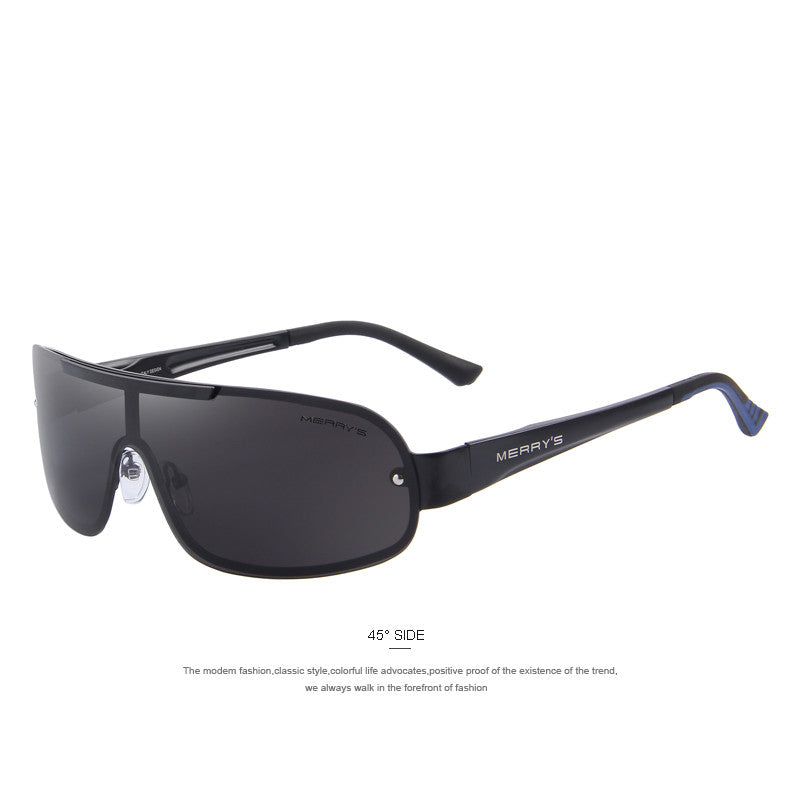 MERRY'S Men Classic Brand Sunglasses HD Polarized Glasses Men's Integrated Eyewear Sunglasses S'8616 - Sunglasses Outlet