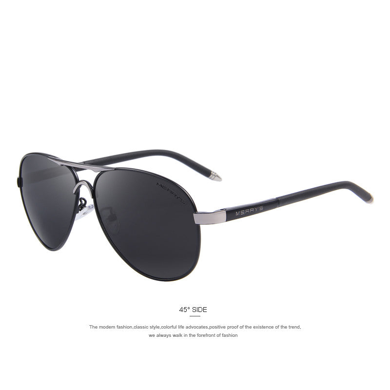 MERRY'S Men Classic Brand Sunglasses HD Polarized Aluminum Driving Sun glasses Luxury Shades UV400 S'8513 - Sunglasses Outlet