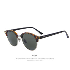 MERRY'S Men Retro Rivet Polarized Sunglasses Classic Brand Designer Unisex Sunglasses Half Frame S'8054 - Sunglasses Outlet