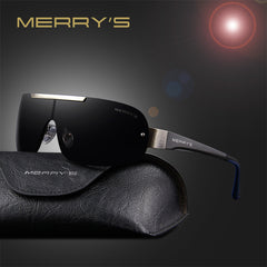 MERRY'S Fashion Classic Polarized Sunglasses Men Brand Designer HD Goggle Men's Integrated Eyewear Sun glasses UV400 S'8616 - Sunglasses Outlet
