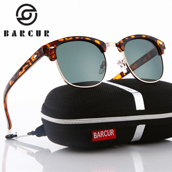 BARCUR 2017 Club Sun Glasses Female Oculos New Polarized 3016 Master Sunglasses Hot Gafas Oculos Ray Men's Personalized Eyewear