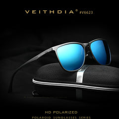VEITHDIA  Men's Sunglasses Polarized Lens Retro Aluminum Magnesium Brand Design Vintage Eyewear Sun Glasses For Men 6623 - Sunglasses Outlet