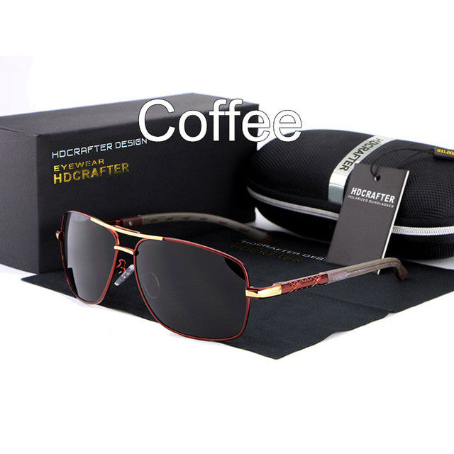 HDCRAFTER 2017 Brand New High Quality Design Sunglasses Polarized UV400 Protection Driving Eyewear Rectangle Oculos