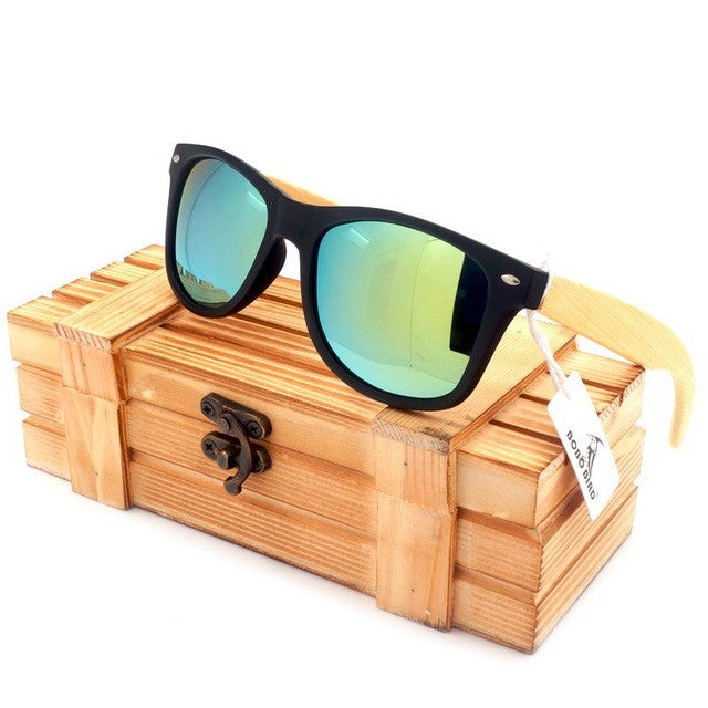 BOBO BIRD 2017 New Gifts Men's Sunglasses Bamboo Legs Polarized Lens Cool Sun Glasses With Wood Gift Boxes for Friends