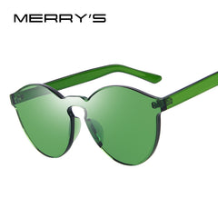 MERRY'S Fashion Women Sunglasses Cat Eye Shades Luxury Brand Designer Sun glasses Integrated Eyewear Candy Color UV400