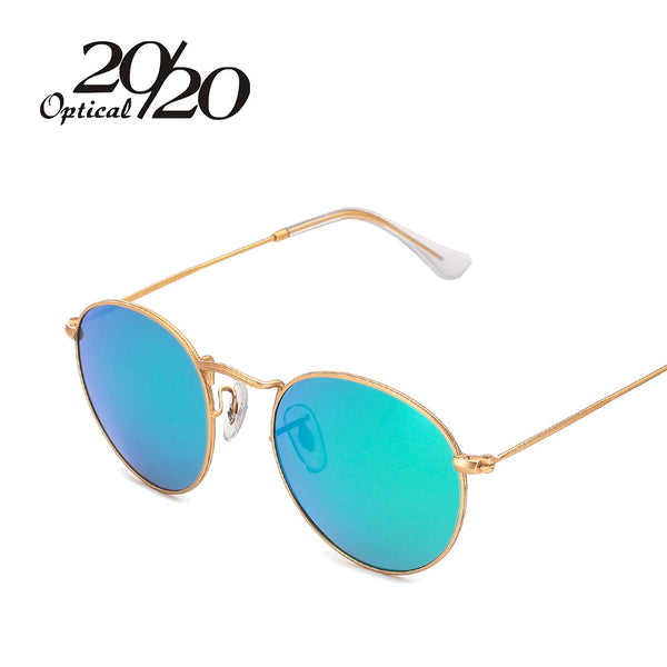 20/20 Brand Designer Women Round Sunglasses Men Fashion Polarized Metal Frame Sun Glasses Shade Gafas OculosEyewear - Sunglasses Outlet