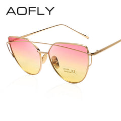 AOFLY Trendy Fashion Sunglasses Luxury Ladies Butterfly Designer Exclusive Brand Embellishment Sunglasses Women Glasses Female - Sunglasses Outlet