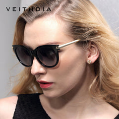 Retro TR90 Vintage Large Sun glasses Polarized Cat Eye Ladies Designer Women Sunglasses Outdoor Eyewear Accessories Female 7016 - Sunglasses Outlet